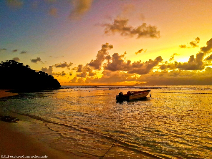gosier - plage du petit havre coucher