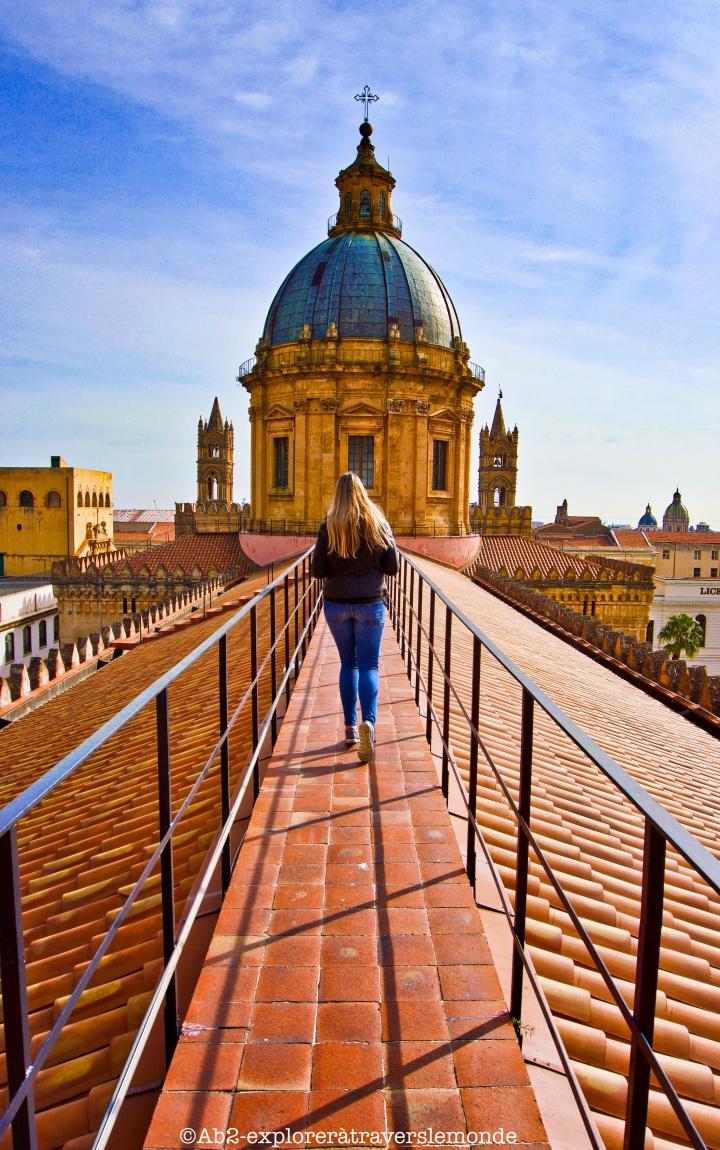 Les toits de la cathédrale de Palerme