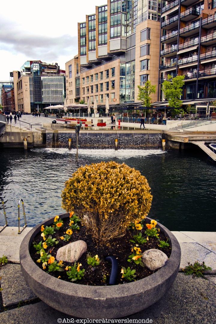 Centre d'Oslo - vue de la chute