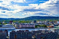 Vue sur Oslo - Parc Ekebergskraningen