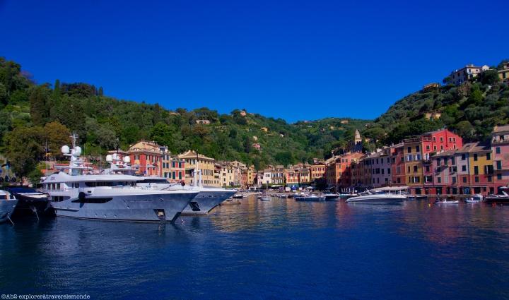 Portofino - port au loin